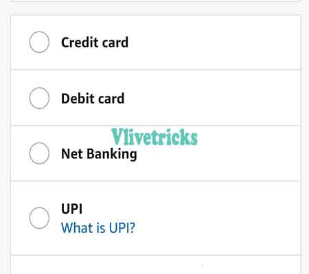 Amazon payment option