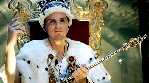 "Understanding James ""Jim"" Moriarty: How he can help us succeed in life (Part 1) http://vlnresearch.com/understanding-moriarty-part-1 Jim Moriarty in a crown in Sherlock image"