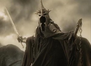 Villain Matrix Stats: Dark Lord Sauron - Silmarillion, Hobbit, Lord of the Rings - http://vlnresearch.com/villain-matrix-stats-sauron - Witch King of Angmar Lord of the Rings Ringwraith Nazgul image