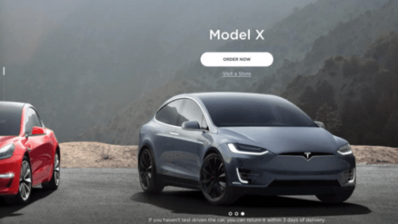 Tesla online car sales