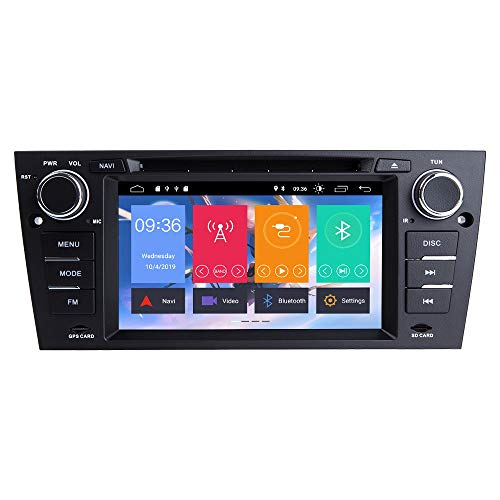 TOOPAI 7 Inch Android 9.0 Car Radio for BMW E90 E91 E92 E93 Car Stereo GPS Navigation Car GPS Media Player Support Screen Mirror 4G WiFi OBD2 Steering Wheel Control Car DVD Player