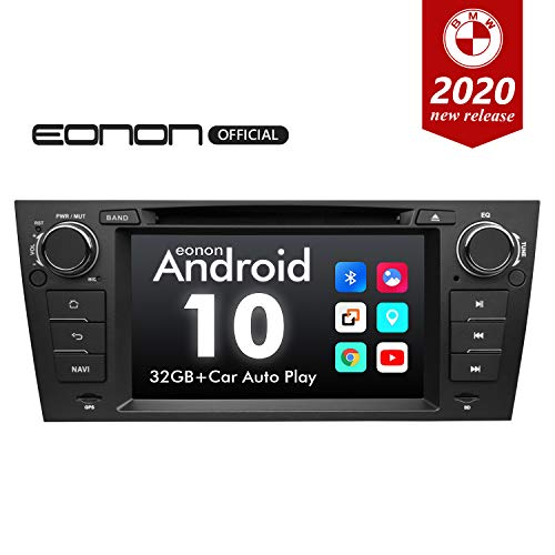 2020 Newest Android Car Stereo Android 10 Car Stereo Eonon Car Radio Applicable to BMW 3 Series GPS Navigation for Car Support Carplay Android Auto/WiFi/Fast Boot/DVR/Backup Camera-7 Inch-GA9465