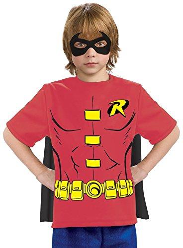 Justice League Child's Robin 100% Cotton T-Shirt - Medium