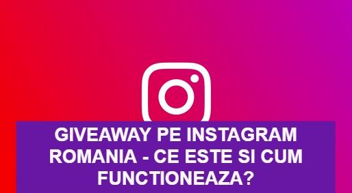 giveaway pe Instagram Romania