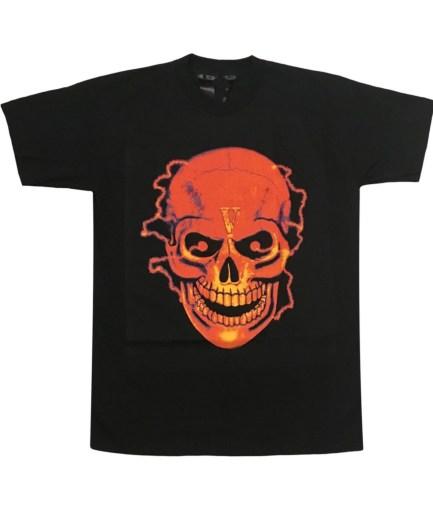 Vlone Black Shocker Skull T-Shirt