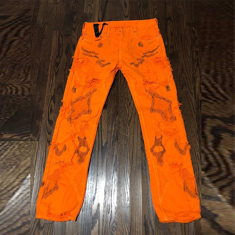 VLONE Denim Pop Up Orange Pant