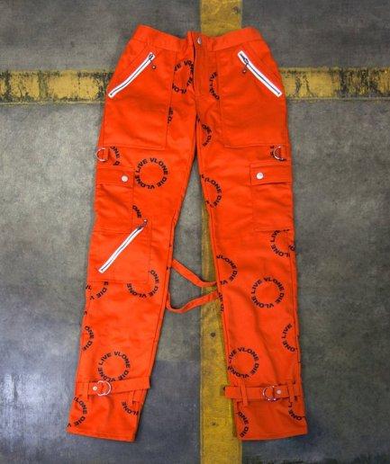 Vlone Bondage Circle Logo Orange Pant