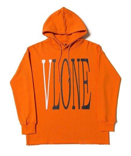 Vlone Staple Design Fashion Orange Hoodie