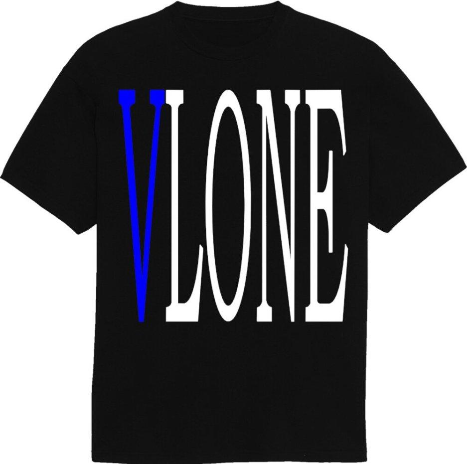 Vlone V Staple T-Shirt Blue\Black