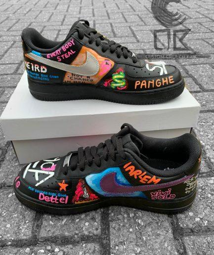 VLONE Customs AF1 Play Boy Black Shoes