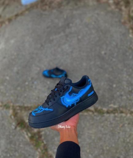 VLONE Custom Lighting Air Force Shoes