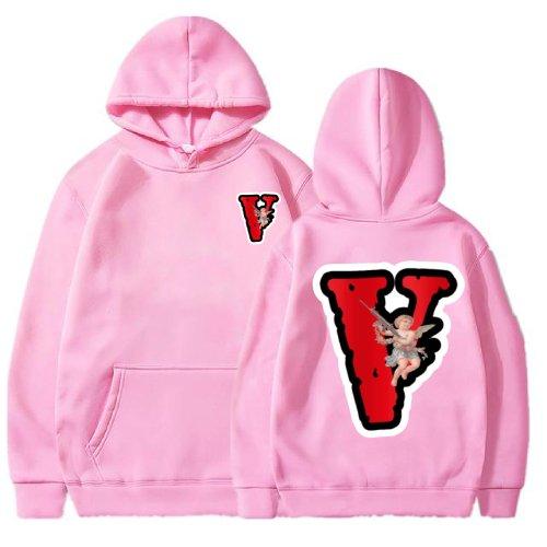 Vlone Angel Friends Pink Hoodie