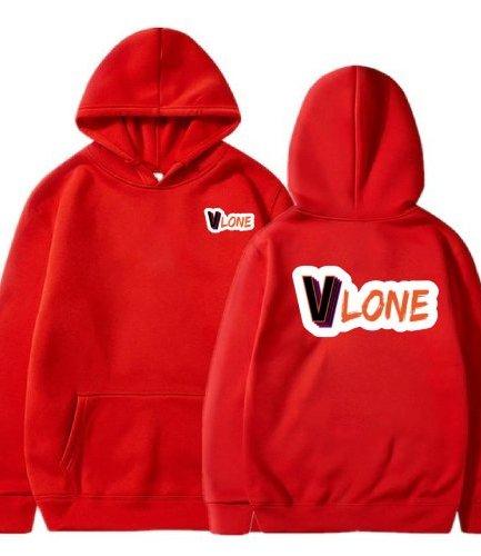 : Vlone Cute Modern Design red Hoodie