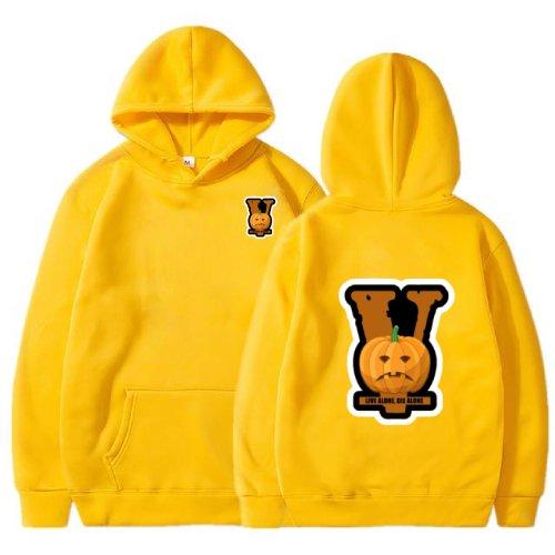 Vlone lonely Halloween 2021 Yellow Hoodie