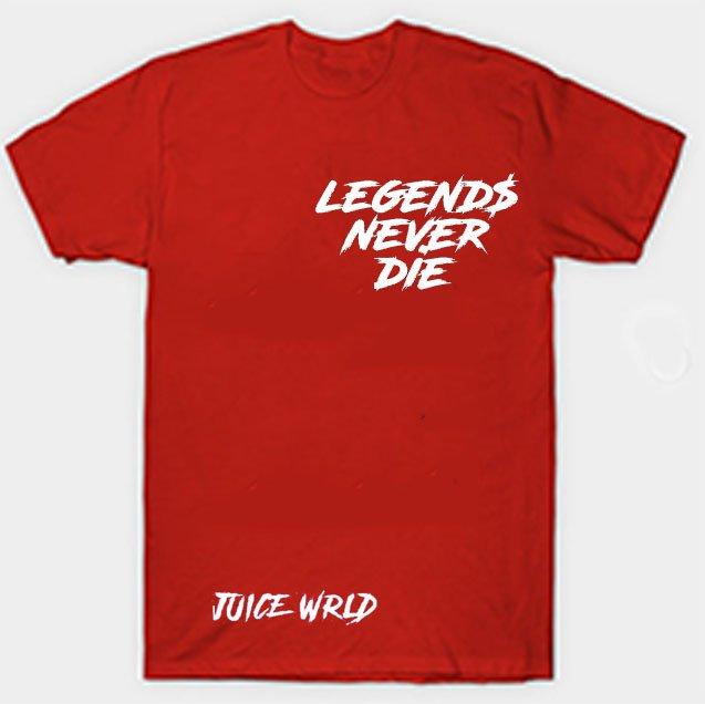 Jucie Wrld x Vlone Legends Never Die Red Tee
