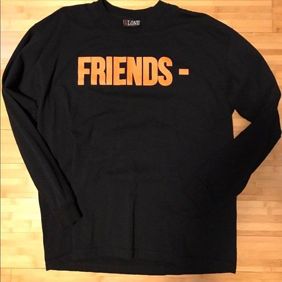 Vlone Friends Black Tee