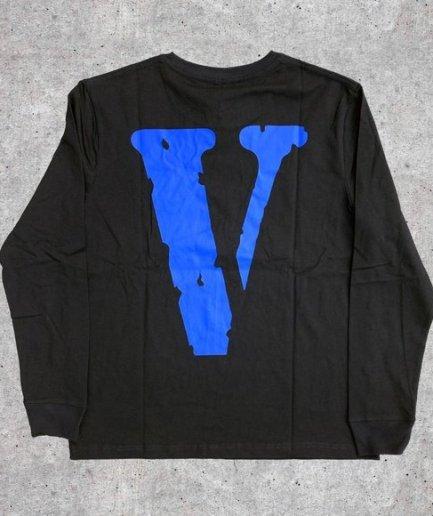 Vlone V Staple V Printed Sweatshirt Blue\Black-Back