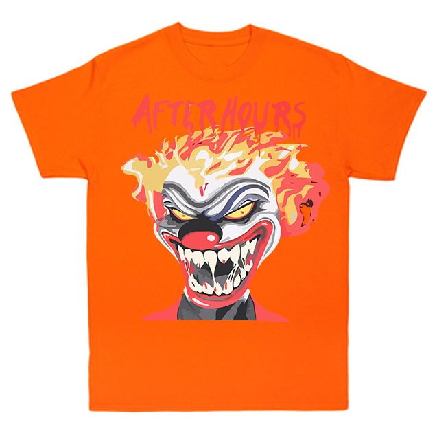 Vlone X The Weeknd After Hours If I OD Clown Orange Tee