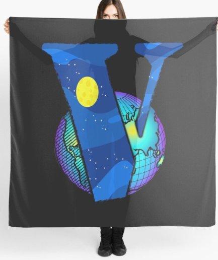Vlone Earth Logo Staple black Scarf
