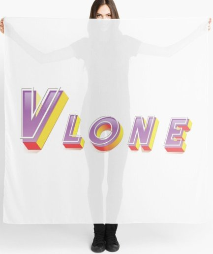 Vlone Colorful 3D white Scarf