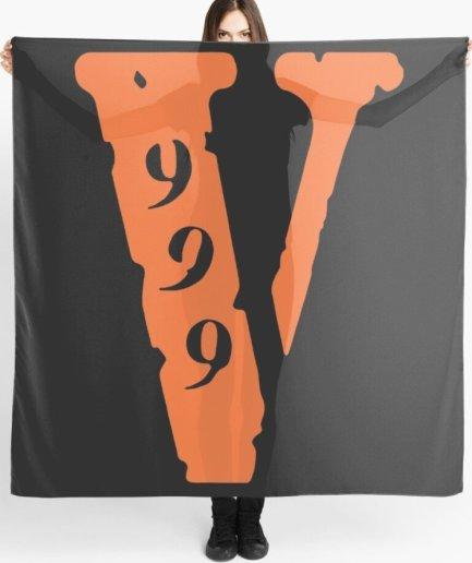Vlone 999 Logo black Scarf