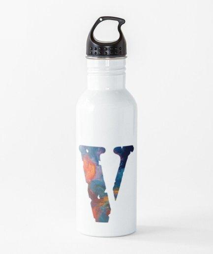 Letter v style colors 1 - Space Pop Smoke x Vlone ART Water Bottle