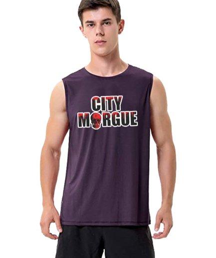 City Morgue x Vlone Drip Purple Sleeveless Shirt