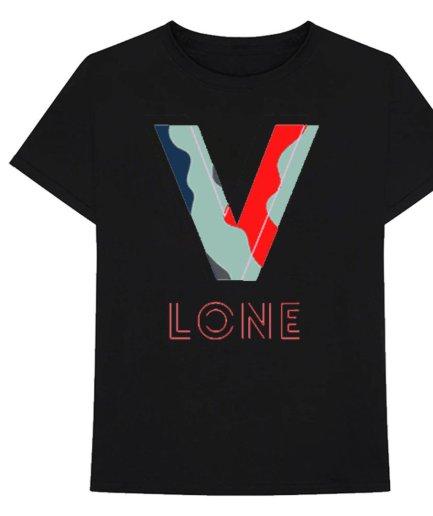 Vlone Camo Staple Black T-Shirt