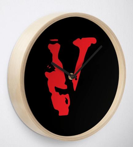 Vlone red blood Clock
