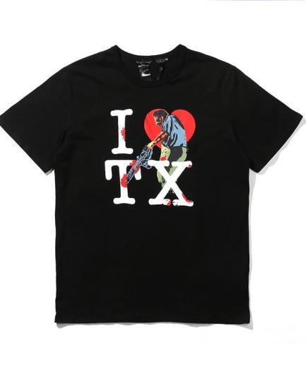 I Love Texas Black Tee front