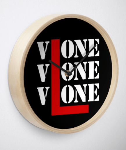 Vlone Tide Big V Letter Print, Python Venom Clock