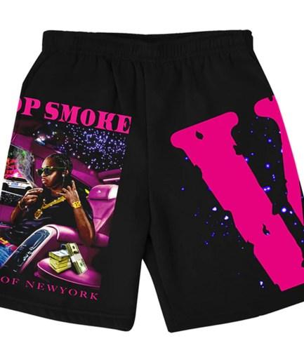 Pop Smoke x Vlone King Of NY Black Shorts