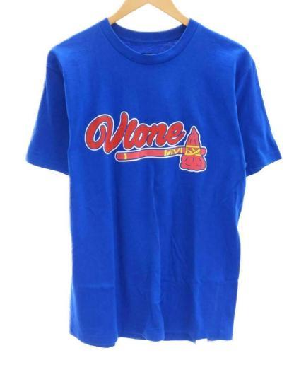 Vlone L Cotton Ax Ss Tee Blue Cotton Fashion T-Shirt