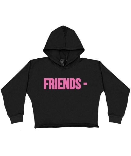 FRIENDS – Pink Hoodie – Black – Kids