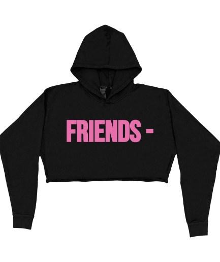 FRIENDS – Pink Hoodie – Black – Womens