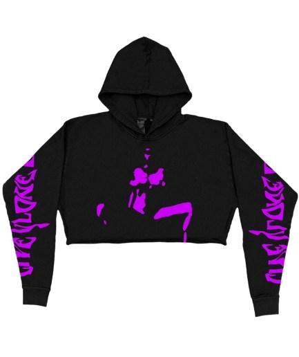 Vlone Mirage Purple Hoodie – Black – Womens