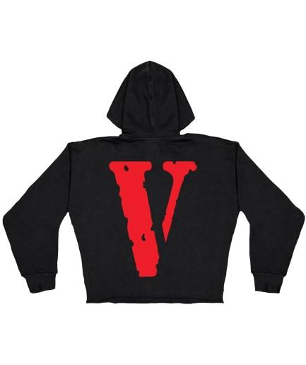 Vlone Staple Red Hoodie – Black – Kids Back