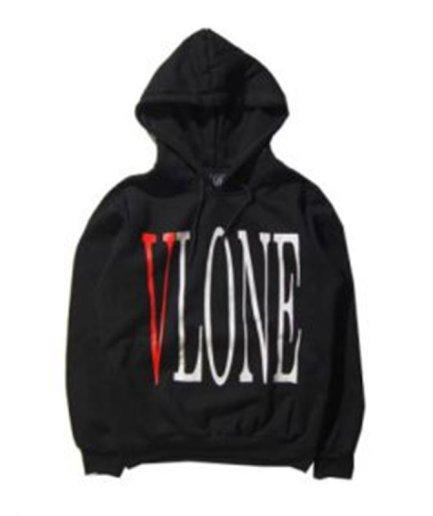 Vlone Staple Streetwear Black Hoodie