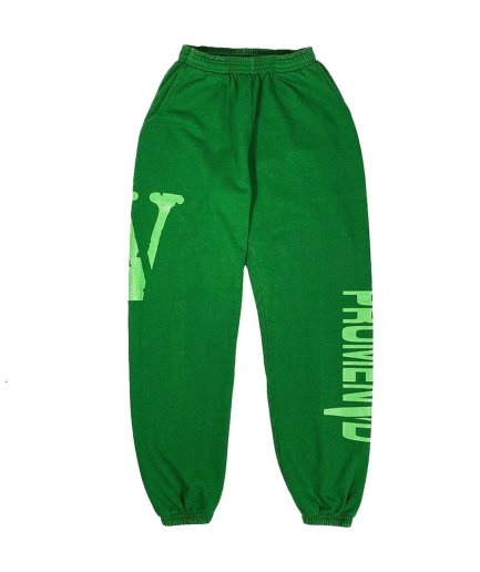 New Vlone Asap Rocky Promenvd Green Sweatpant