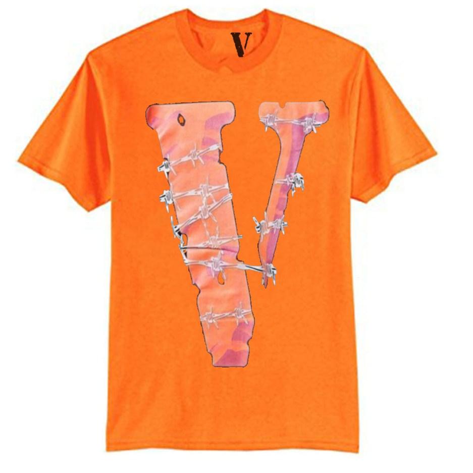 Vlone V Logo Orange T-Shirt