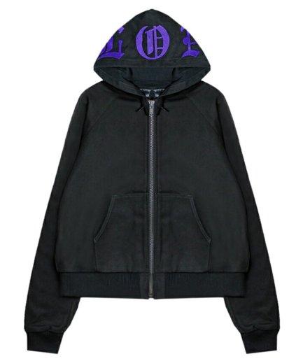 Vlone Canvas Embroidered Black Jacket