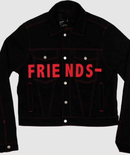 Vlone Friend Denim Black Jacket