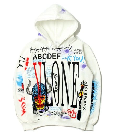 Vlone Harajuku long sleeve brand hip hop hoodie