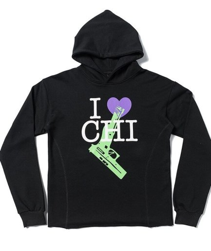 VLONE I Love Chi Black Hoodie