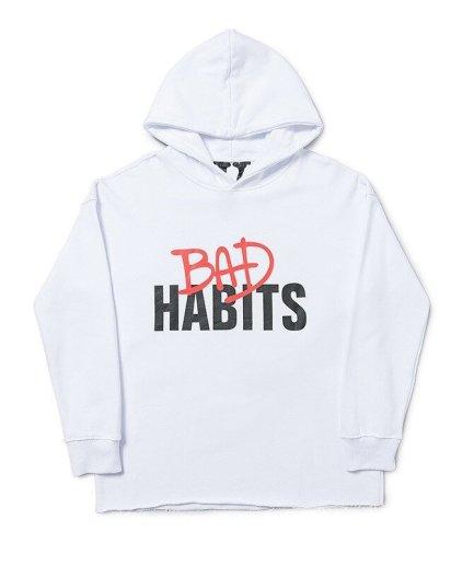 VLONE Bad Habits Harajuku White Hoodie