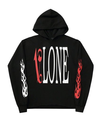 Vlone x Palm Angles Hoodie Red\Black-Front