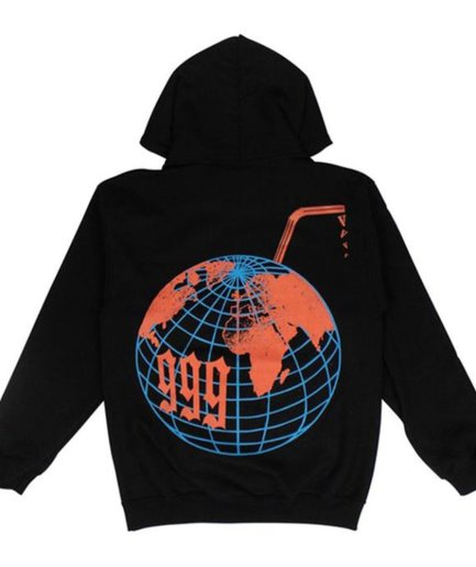 Vlone x Juice Wrld Graphic Black Hoodie