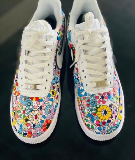 VLONE Custom Nike Air Force Graffiti White Shoes