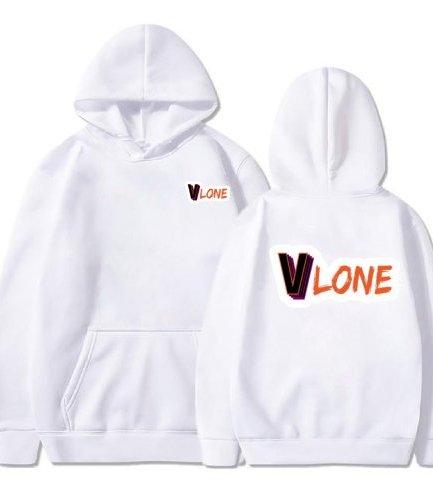 : Vlone Cute Modern Design white Hoodie
