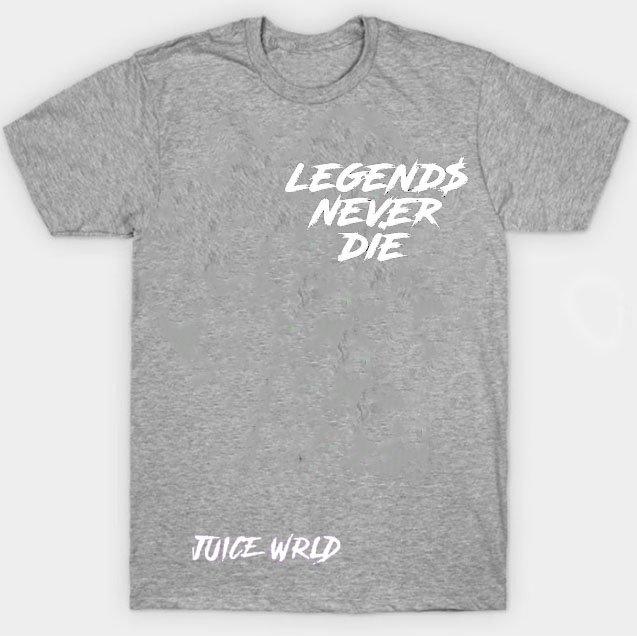 Jucie Wrld x Vlone Legends Never Die Gray Tee